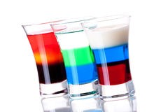 Cocktail collection: Russian Flag, Anabolic a Stock Photo
