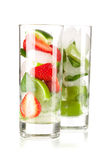 Cocktail collection: Strawberry and classic mojito Royalty Free Stock Photography
