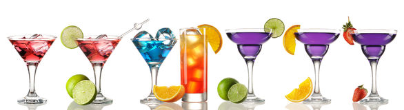 Cocktail collection Stock Images