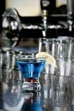 Cocktail colorido em um restaurante Imagem de Stock Royalty Free