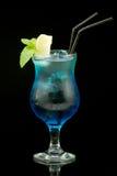 Cocktail colorido no fundo preto Foto de Stock Royalty Free