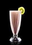 Cocktail colorido no fundo preto Imagens de Stock Royalty Free