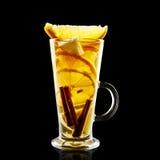 Cocktail colorido no fundo preto Imagem de Stock Royalty Free