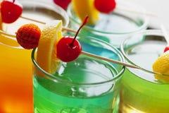 Cocktail coloridos imagens de stock royalty free