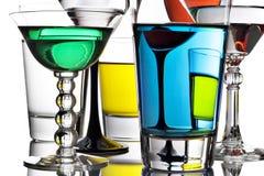 Cocktail coloridos foto de stock