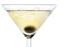 Cocktail com azeitona Imagens de Stock Royalty Free