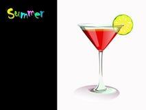 Cocktail com cal Imagem de Stock