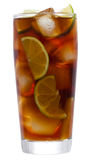 Cocktail com cal e cola Imagens de Stock Royalty Free