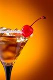 Cocktail com cereja Imagem de Stock Royalty Free