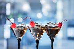 Cocktail com cereja Foto de Stock Royalty Free