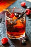 Cocktail com a framboesa no fundo Imagem de Stock