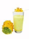 Cocktail com fruta do kiwano Foto de Stock