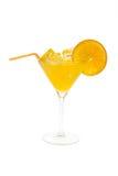 Cocktail com laranja Imagem de Stock Royalty Free