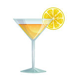 Cocktail com limão Fotos de Stock