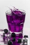 Cocktail com mirtilos Imagens de Stock