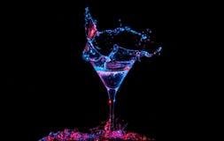 Cocktail com o limão no vidro Fotos de Stock Royalty Free