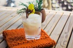 Cocktail com um coco Imagens de Stock Royalty Free