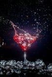 Cocktail com um pulverizador fotografia de stock