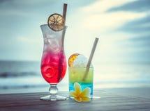 Cocktail com vista para o mar Imagem de Stock Royalty Free