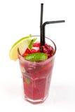 Cocktail con calce Fotografia Stock Libera da Diritti