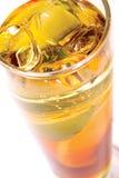 Cocktail con frutta e ghiaccio Immagini Stock