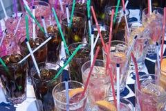 Cocktail con ghiaccio Immagine Stock Libera da Diritti