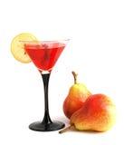 Cocktail con il limone e le pere Immagini Stock Libere da Diritti