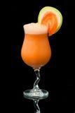 Cocktail con il primo piano della mela e della carota Fotografia Stock