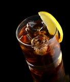 Cocktail con il whiskey della cola del ghiaccio Fotografia Stock Libera da Diritti