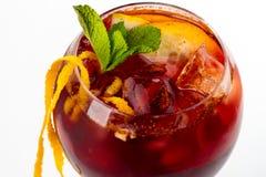 Cocktail con l'arancia Immagini Stock Libere da Diritti