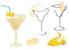 cocktail con la banana Immagini Stock