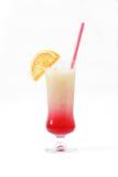 Cocktail con la fetta di arancia Immagini Stock Libere da Diritti