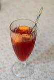 Cocktail con paglia Immagini Stock Libere da Diritti