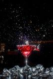 Cocktail con uno spruzzo Fotografie Stock