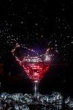 Cocktail con uno spruzzo Fotografia Stock