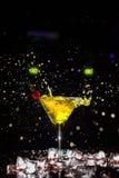 Cocktail con uno spruzzo Immagini Stock