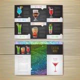 Cocktail concept design. Corporate identity. Stock Photos