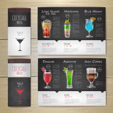 Cocktail concept design. Corporate identity. Stock Images