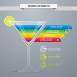 Cocktail concept infographic design template. Cocktail party or Stock Photos
