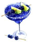 Cocktail congelé bleu illustration libre de droits