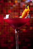 Cocktail - Cosmo. Cosmopolitan - Alcoholic Cocktail made from Vodka, Cointreau, Lime Juice and Cranberry Juice royalty free stock image