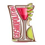 Cocktail cosmopolita ilustração stock