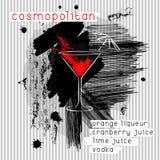Cocktail cosmopolita nello stile di lerciume Fotografie Stock