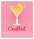 Cocktail cosmopolitan drink pink background Stock Photo