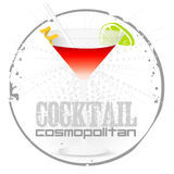 Cocktail Cosmopolitan stamp Stock Images