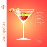 Cocktail cosmopolite illustration de vecteur