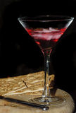 Cocktail and crackers royalty free stock image