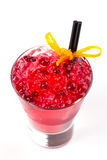 Cocktail with cranberries. Red cocktail with ice and cranberries Stock Photo