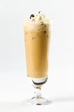 Cocktail with cream. Beige cocktail with coffee and cream Royalty Free Stock Image