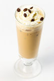 Cocktail with cream. Beige cocktail with coffee and cream Stock Image